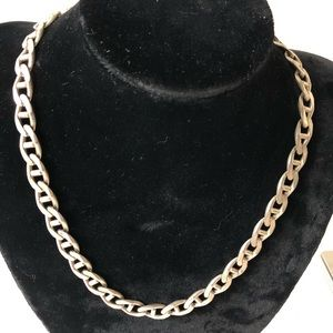 Heavy sterling silver curb estate necklace